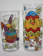 Easter glass painting at Kersey Mill
