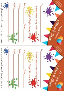 Childre's Party Invites ipswich