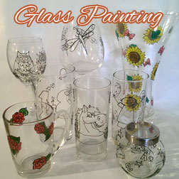 glass painting Ipswich, glass painting Suffolk, craft workshop Suffolk, craft workshop Ipswich
